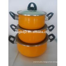 outdoor camping cook set carbon steel Enamel casserole sets