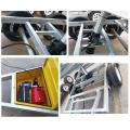 8x5 a entièrement soudé la remorque de cage de boîte de benne de tracteur galvanisé par OEM usine