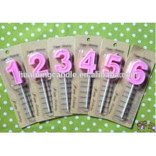 Velas de cumpleaños en forma de número