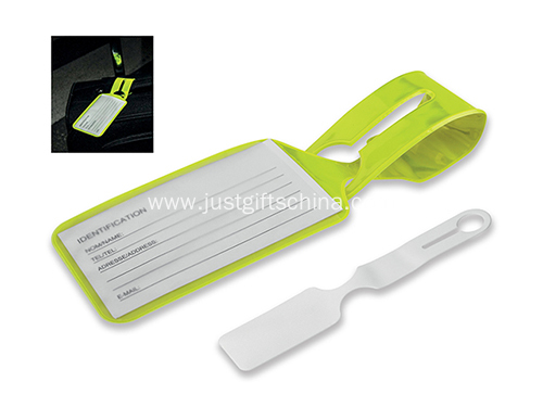 Promotional pvc Logo Luggage Tag