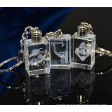 Porte-clés de cadeau de promotion Porte-clés en cristal carré