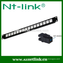 16 port cat5e cat6 rj45 utp modular patch panel