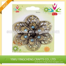 handmade craft fashional flower iron self-adhesive sticker