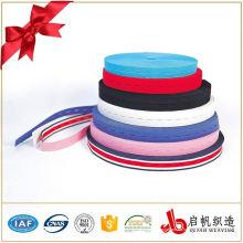 Kundenspezifisches farbiges gewebtes Knopfloch-Gummiband für Kleidung