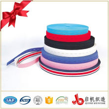 Cinta elástica tejida coloreada modificada para requisitos particulares del agujero de botón para la ropa
