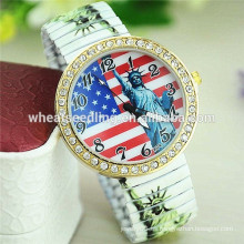 Reloj caliente de las señoras de la moda de la aleación de la venta de la estatua de la libertad de la estatua americana