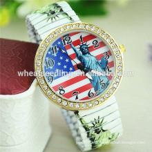 Estátua americana da liberdade do relógio quente das senhoras da moda da liga da venda
