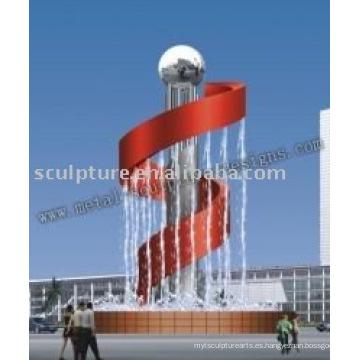 Escultura de la fuente musical, fuente del jardín, fuente moderna de la escultura