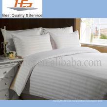 Fundamento branco de alta qualidade do poliéster da casa da listra para a casa e o hotel