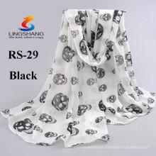 NINGBO LINGSHANG 2015 mode multi couleurs étui écolo écharpe imprimé écharpe mousseline femme