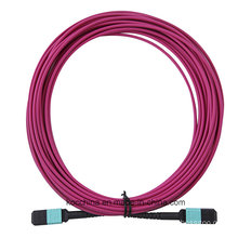 MPO/MTP Om4 Violet Fiber Optical Patch Cord