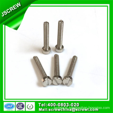 M3*18 Cap Head Nickel Plated Slotted Recess Stainless Steel Machine Screw