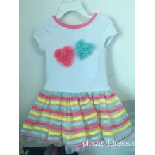 Lovely Bubble Fashion Girl Causal Dress dla dzieci