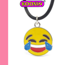 Collier de bijoux d'Emoji de styles à la mode 2016/collier d'Emoji fait sur commande en métal