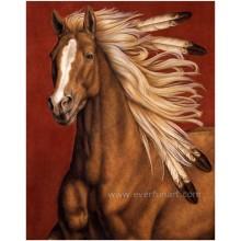 Peinture à l'huile de course de chevaux
