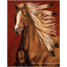 Handgemachtes Tiermalerei-laufendes PferdeÖlgemälde auf Segeltuch für Hauptdekoration (EAN-233)