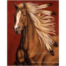 Ручная живопись Живопись Запуск Лошадь живопись на холсте для домашнего украшения (EAN-233)