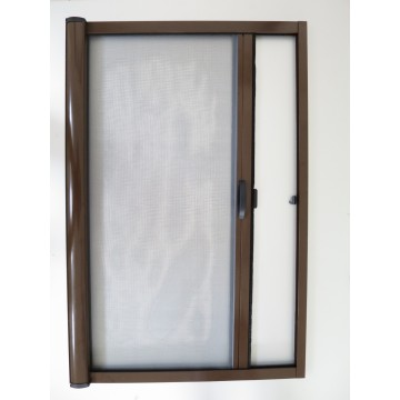 Aluminum single cassette roller fly screen door