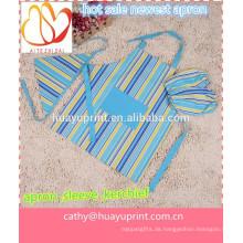Han-Ausgabe Leinwand kann gedruckt werden LOGO, die neue Kinder-Schürze, Kinder-Schürze, Kinder Zeichnung Ärmel, blaue Streifen Narbe