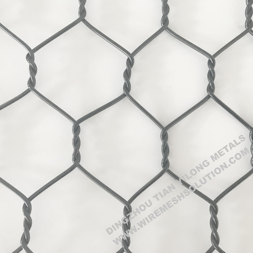 Polyester Hexagonal Wire Mesh Gabion without Metal Wire