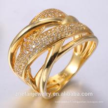 Bagues de fiançailles pour femme bague princesse en or rose