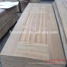 Puerta principal tallado en madera diseño de la puerta tablero de la piel