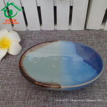 Ancient jade color porcelain fruit plate, ceramic sushi plate dishes