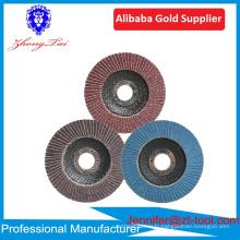 Approvisionnement d'usine supérieur Disques à lamelles abrasifs en aluminium Alumina Disques à lamelles en acier inoxydable 36 60