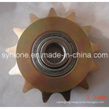 Sprocket Wheel with Bearing, Colored Zinc Plated