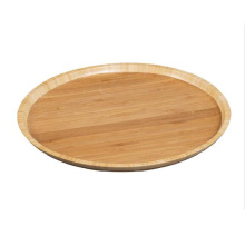 Antibacterial round bamboo party platter wood serving tray