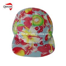 Polyester Foral 5 Panel Freizeit Caps und Hüte