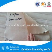 Tissu filtré en fibre de verre tissé revêtu de silicium pour plantes métalliques