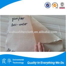 Pano de filtro de fibra de vidro tecido de silício revestido para plantas de metal