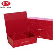 Рождественская подарочная коробка из картона в форме магнитной книги