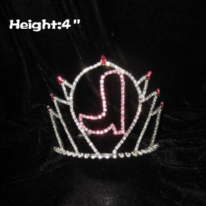4inch Height Pink Boot Shoe Crystal Pageant Crowns