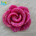 wedding decoration rose red cabochon petal resin stone flower shape