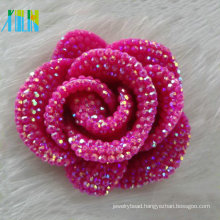 wedding decoration rose red cabochon petal resin stone flower shape