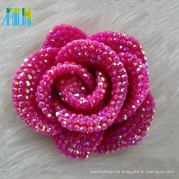 Hochzeit Dekoration rose rot Cabochon Blütenblatt Harz Stein Blume Form