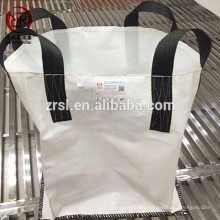 Single trip use top full open jumbo bags 1mt for sand , four loops closed bottom