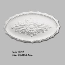 PU 楕円形天井の円形浮彫り