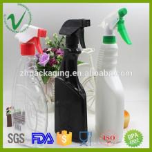 500ml HDPE nettoyant en gros bouteille en plastique détergente liquide en plastique avec spray déclencheur