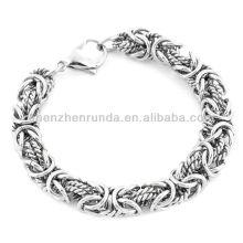 Venta al por mayor pulsera de joyería de acero inoxidable intrincada pulsera bizantina Vners Fabricante Importador