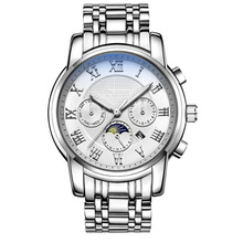 Modern carrying steel case sapphire crystal watch