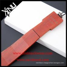 Men Private Label Ties Sandalwood Hand Made Wooden Necktie