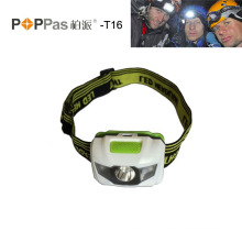 Popular 1W LED Bulb 1 Super Bright White LED 2 Red LEDs Headlamp LED Headlamp__Poppas T16