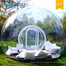 Durable aufblasbares wasserdichtes kampierendes Zelt aufblasbares freies transparentes Blasen-Zelt