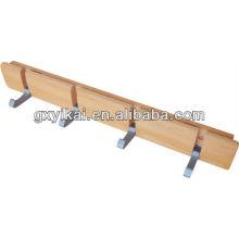 Деревянная вешалка для гостиниц с алюминиевой стойкой