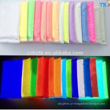 China atacado pigmento fotoluminescente em pó, brilho no pigmento escuro