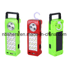 Rechargeable Solar LED Emergency Lamp