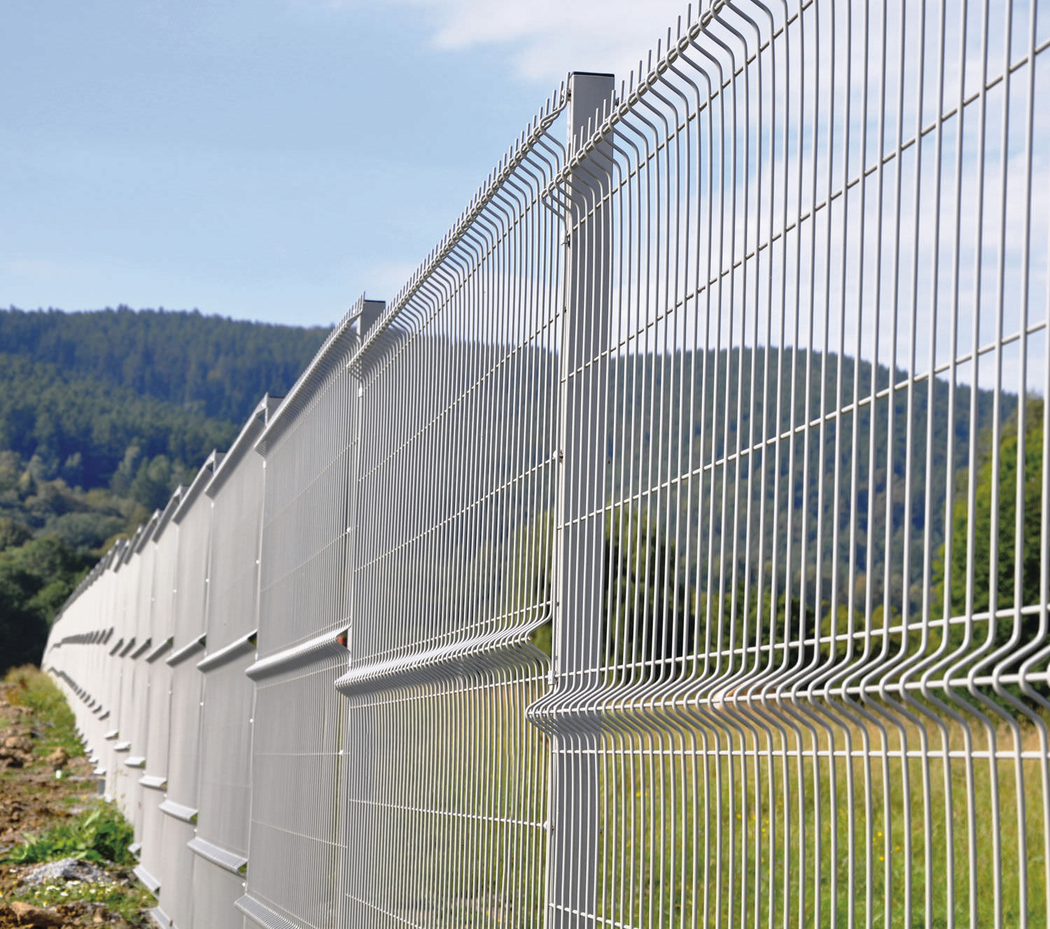 galvanized rigid mesh fencing